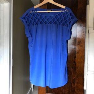 Women's Blue Express Dress Shirt